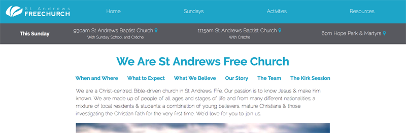 St Andrews Free Church Website